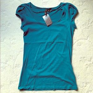Turquoise Scoop-neck T-shirt, NWT